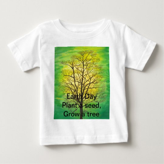 Infant Earth Day T-Shirt- Green Tree Baby T-Shirt