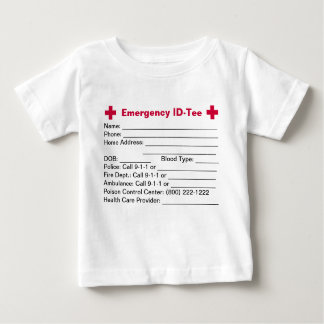 Infant Emergency ID-Tees/Creepers Baby T-Shirt