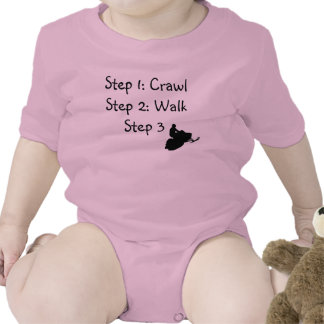 "Infant Girl (pink Crawl, Walk, Ride"" T Shirts"