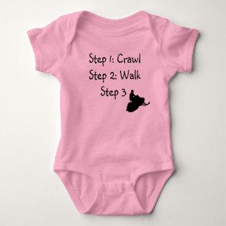 """Infant Girl (pink Crawl, Walk, Ride"""" Shirt"""