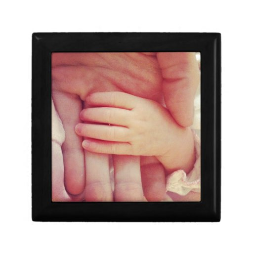 Infant hand trinket box