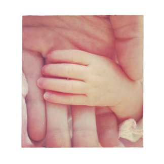 Infant hand memo pads