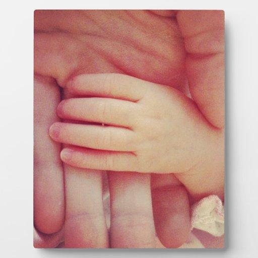 Infant hand photo plaque
