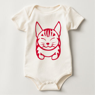 Infant Happy Cat T-shirt (red tabby)