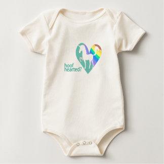 Infant Hoof Hearted Unicorn Rainbow Baby Bodysuit