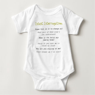 Infant Interrogatives Baby Bodysuit