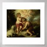 Infant Jesus and John the Baptist circa 1600's Print