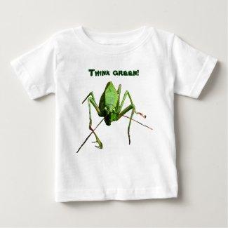 Infant Katydid Think Green Baby T-Shirt