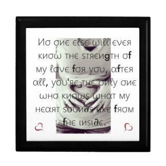 Infant Keepsake box/Heart and Quote Gift Box