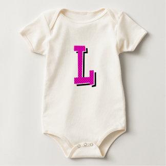 "Infant ""L"" Dotty Monogramed Baby Bodysuits"