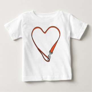Infant Leashed Heart Logo Tee (white)