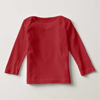 Infant Long Sleeve Baby T-Shirt Red