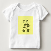 Infant Long Sleeve Shirt With A Panda In Love