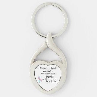 Infant loss awareness heart keychain
