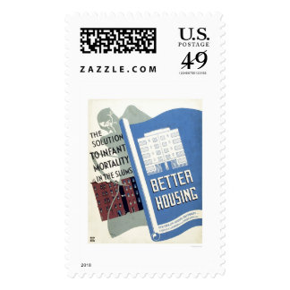 Infant Mortality Solution 1936 WPA Stamp