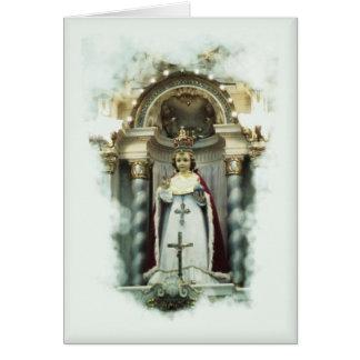 Infant of Prague Catholic greeting card