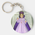 Infant of Prague Statue Basic Round Button Keychain