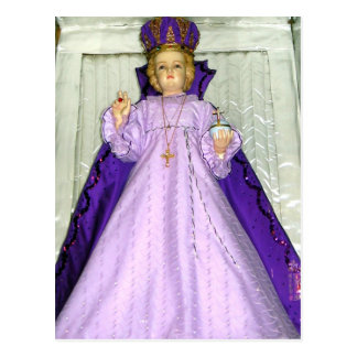 Infant of Prague Statue Postcard