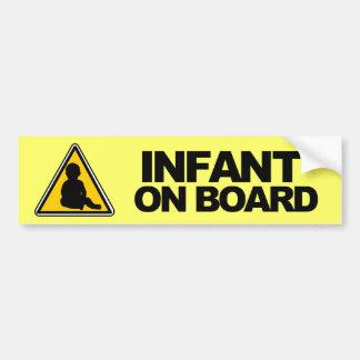 Infant on Board Car Bumper Sticker