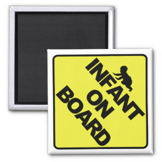 Infant on board 2 inch square magnet
