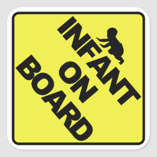 Infant on board square sticker