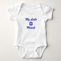 Infant one-piece snap bottom Jewish baby Mensch Baby Bodysuit