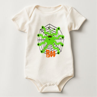 Infant Organic Creeper Halloween Spider Boo