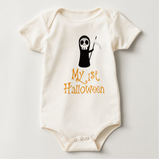 Infant Organic Creeper, Natural - Halloween Style Baby Bodysuit