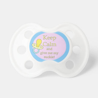 Infant Pacifier, Keep Calm and give me my..... BooginHead Pacifier