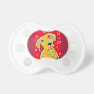 Infant Pacifier with Bright Dog Design