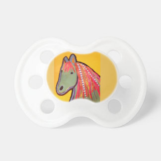 Infant Pacifier with Bright Horse Design