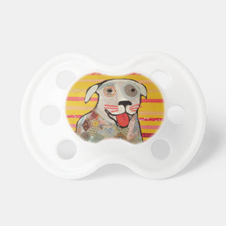Infant Pacifier with Happy Dog Design
