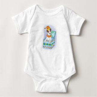 """Infant Romper """"Jack Russell In The Box"""""""
