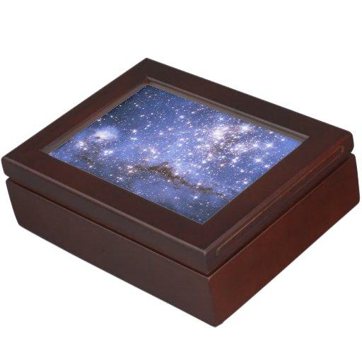 Infant Stars in Neighboring Galaxy Keepsake Boxes