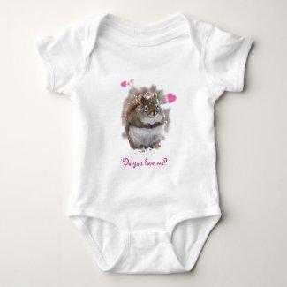 Infant Sweet Squirrel Valentine Baby Bodysuit