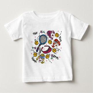 Infant T shirt -Tennis Girls