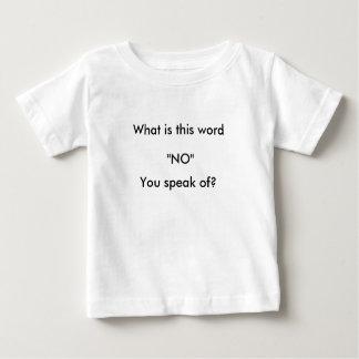 Infant T-shirt, white T-shirt