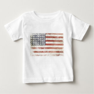 Infant T-shirt with Distressed USA Flag