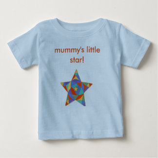 Infant Tshirt, mummy's little star Baby T-Shirt