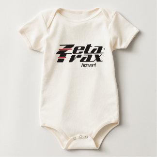 """Infant """"Zeta Trax Activist!"""" organic creeper"""