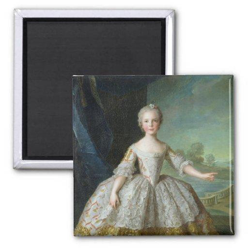 Infanta Isabel de Borbón-Parme 1749 Imán Cuadrado