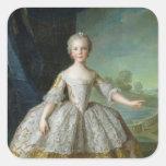 Infanta Isabel de Borbón-Parme 1749 Pegatina Cuadrada