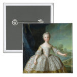 Infanta Isabel de Borbón-Parme 1749 Pin Cuadrado
