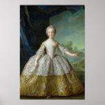 Infanta Isabel de Borbón-Parme 1749 Póster