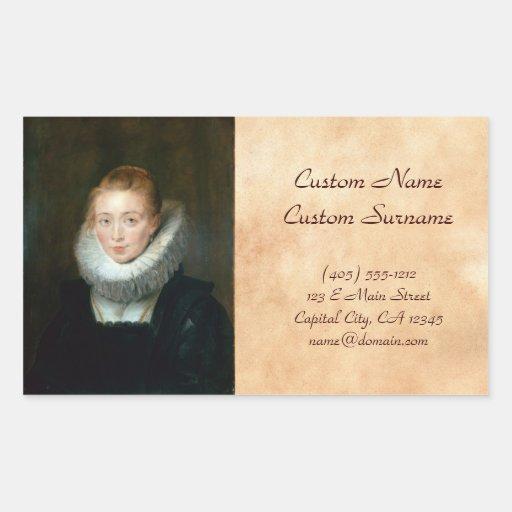 Infanta Isabel Rubens Paul del honor de la criada Pegatina Rectangular