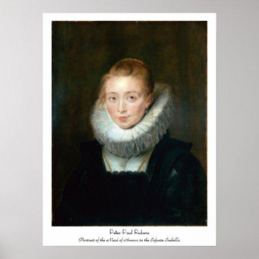 Infanta Isabel Rubens Paul del honor de la criada Póster