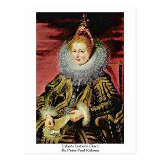 Infanta Isabella Clara By Peter Paul Rubens Postcard