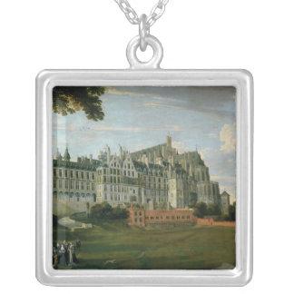 Infanta Isabella Clara Eugenia Square Pendant Necklace