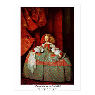 Infanta Margarita As A Girl By Diego Velazquez Postcard