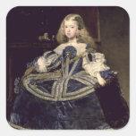 Infanta Margarita en el azul, 1659 Pegatina Cuadrada